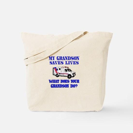 Ambulance Saves Lives-Grandso Tote Bag