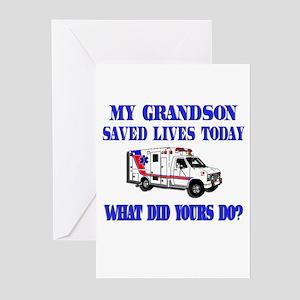 Saved Lives Ambulance-Grandso Greeting Cards (Pk o