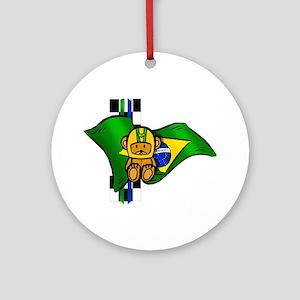 Brazilian Racing Round Ornament