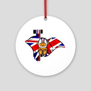 British Racing Ornament (Round)