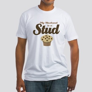 My Husband Stud Muffin Fitted T-Shirt
