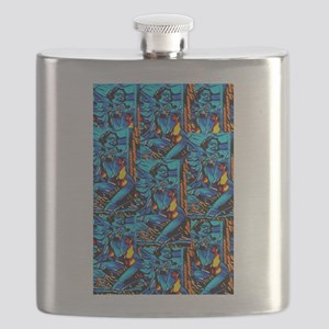 Beautiful Blues Flask