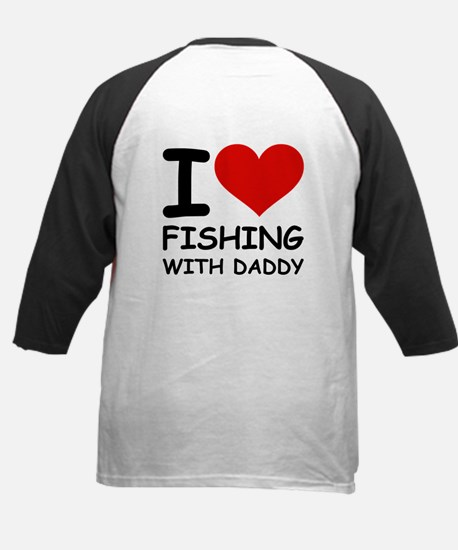 FISHING WITH DADDY Kids Baseball Jersey