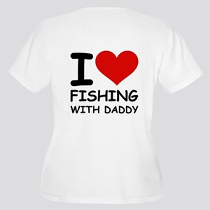 FISHING WITH DADDY Women's Plus Size V-Neck T-Shir
