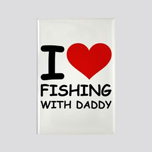 FISHING WITH DADDY Rectangle Magnet