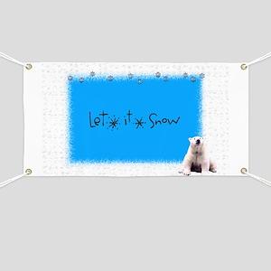 let it snow bear Banner