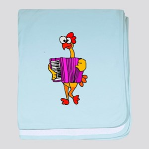 Rubber Chicken with Accordion baby blanket