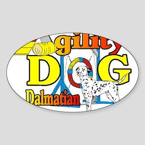 Dalmatian Agility Sticker