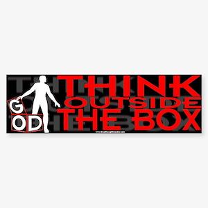 Think Outside Box Bumper Sticker