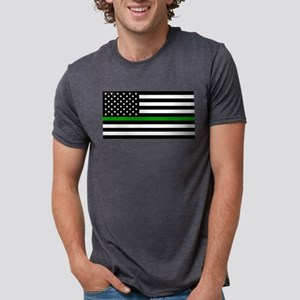 U.S. Flag: The Thin Green Line T-Shirt