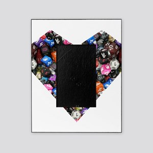 d20 dice heart Picture Frame