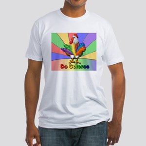 Rooster Tail De Colores Fitted T-Shirt