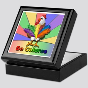 Rooster Tail De Colores Keepsake Box
