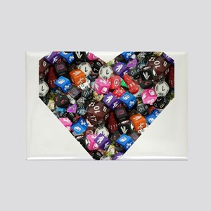 d20 dice heart Magnets