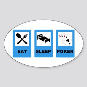 POKER EXIT Oval Sticker