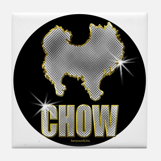 Bling Chow Tile Coaster