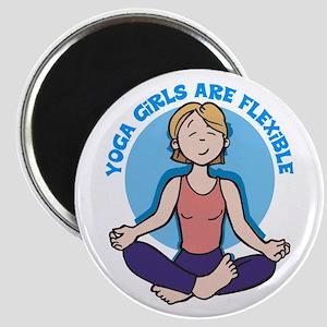 Yoga Girls Are Flexible Magnet