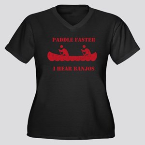 Paddle Faster Deliverance Women's Plus Size Shirt