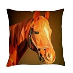 Horse Poly Art Everyday Pillow