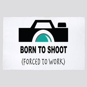 Born to Shoot Forced to Work 4' x 6' Rug