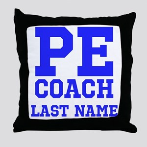 PE Coach Throw Pillow