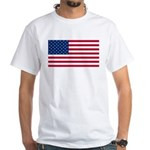 Red White and Blue White T-Shirt
