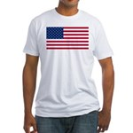 Red White and Blue Fitted T-Shirt