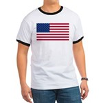 Red White and Blue Ringer T
