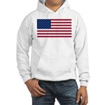 Red White and Blue Hooded Sweatshirt