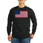 Red White and Blue Long Sleeve Dark T-Shirt