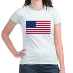 Red White and Blue Jr. Ringer T-Shirt