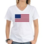 Red White and Blue Women's V-Neck T-Shirt