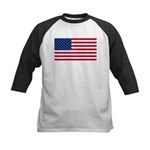 Red White and Blue Kids Baseball Jersey