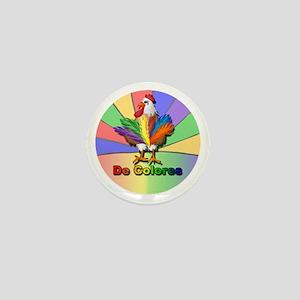 Rooster Tail De Colores Mini Button