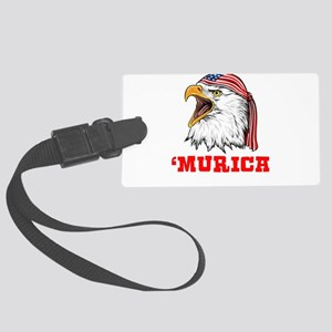 American Bald Eagle Merica Indep Large Luggage Tag