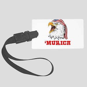 American Bald Eagle Merica Indep Large Luggage Tag