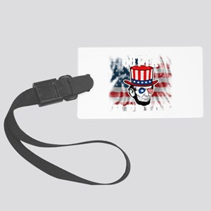Abraham Lincoln Straight Outta M Large Luggage Tag
