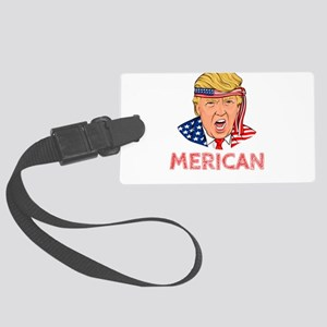 Donald Trump Merican Independenc Large Luggage Tag