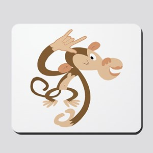 I Love You Monkey Mousepad