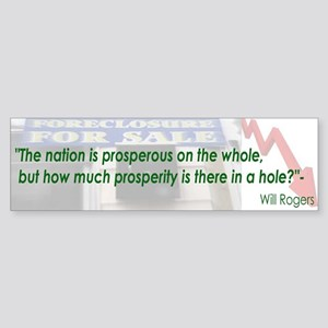 Will Rogers Quote Bumper Sticker