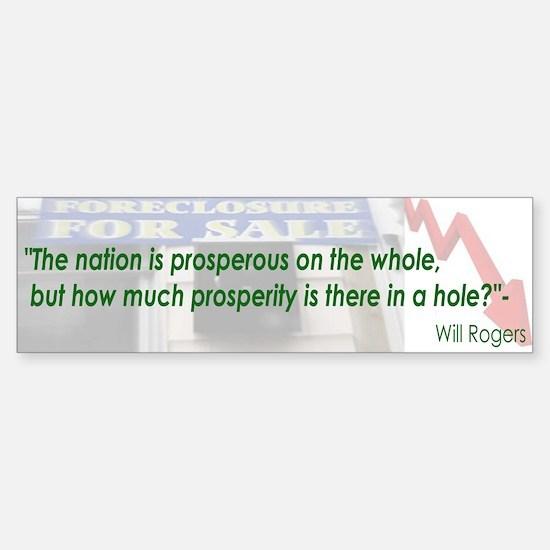 Will Rogers Quote Bumper Bumper Bumper Sticker