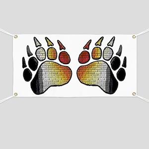 2 BRICK PATTERN BEAR PRIDE PAWS Banner