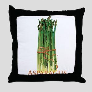 Green Asparagus Throw Pillow