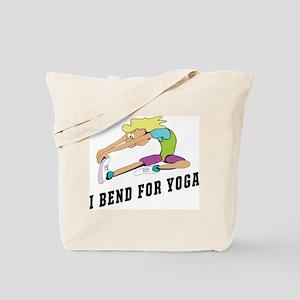 I Bend For Yoga Tote Bag