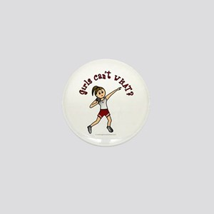 Light Red Shot Put Mini Button