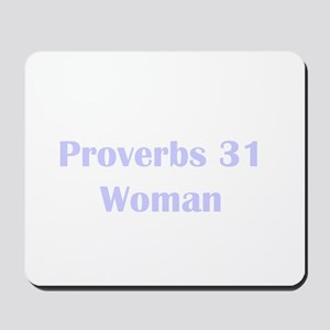 Lilac Proverbs 31 Woman Mousepad