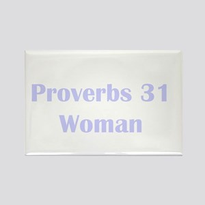Lilac Proverbs 31 Woman Rectangle Magnet