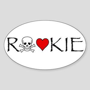 Roller Derby Rookie Oval Sticker