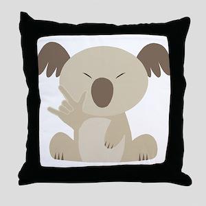 I Love You Koala Throw Pillow
