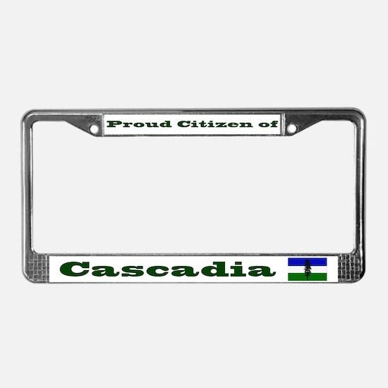 Proud Citizen of Cascadia License Frame - White